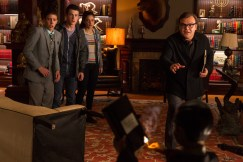 """L-r, Ryan Lee, Dylan Minnette, Odeya Rush and Jack Black star in Columbia Pictures' """"Goosebumps."""""""
