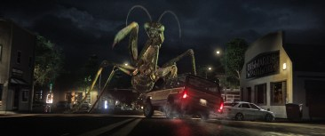 When the creatures from R.L. Stine's (Jack Black) Goosebumps series come to life – including the Praying Mantis (pictured) – it's up to Stine to team up with three teenagers to get these figments of Black's imagination back in the books where they belong and save the town.