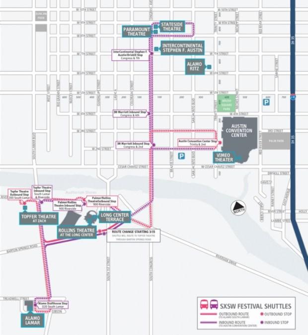 SXSW Venue Map