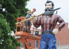 PORT HOPE -- A statue of Paul Bunyan was erected in Memorial Park for the filming of Stephen King's 'It'.