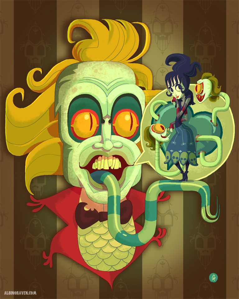 Beetlejuice Beetlejuice Beetlejuice Stunning Fan Art From The Tim Burton Classic Bloody Disgusting