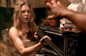 Renee Zellweger in the 1994 slasher flick Texas Chainsaw Massacre: The Next Generation