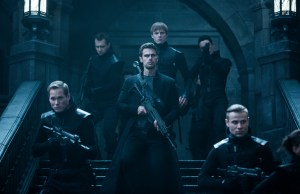 Theo James (center-front) and Bradley James (center-rear) in  Screen Gems' UNDERWORLD: BLOOD WARS.
