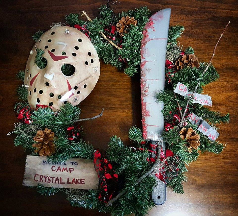 Horror Christmas Ornaments.These Horror Movie Wreaths Bring Halloween To The Christmas