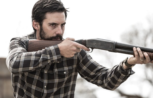 Milo Ventimiglia stars as the mysterious Jackson Pritchard living on the outskirts of Devil's Gate. Film still from DEVIL'S GATE. Photo credit: David Bukach.