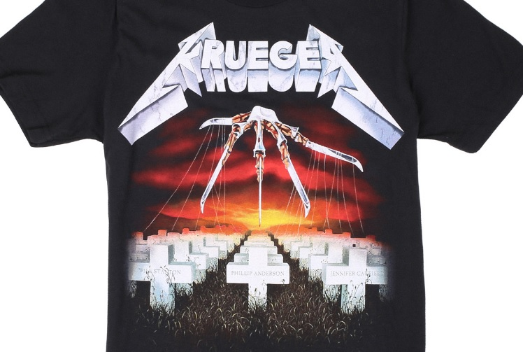 Electric Zombie Unleashes Freddy Krueger X Metallica Mashup T Shirt Line Bloody Disgusting
