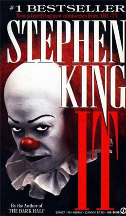 Image result for it by stephen king book cover