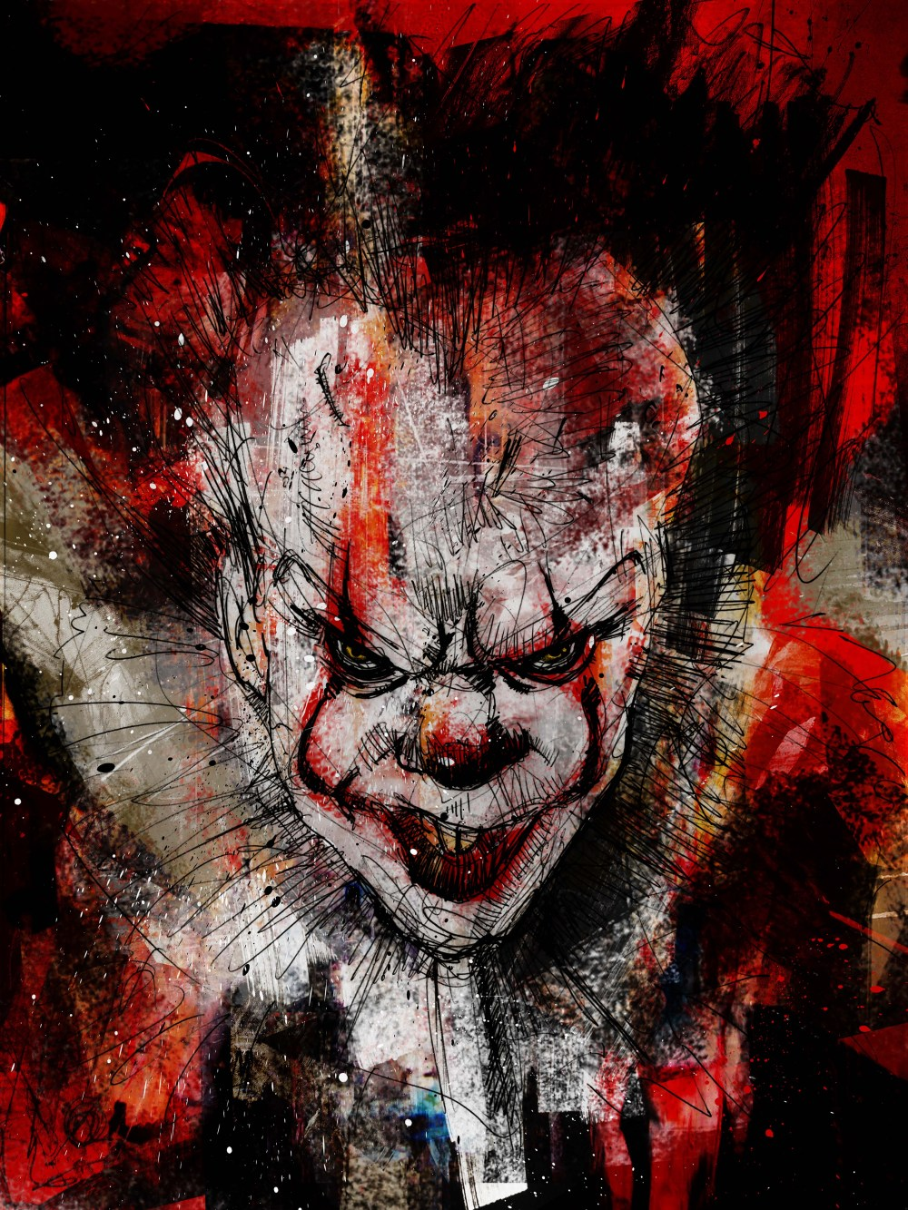 this awesome pennywise art is on display at gallery1988
