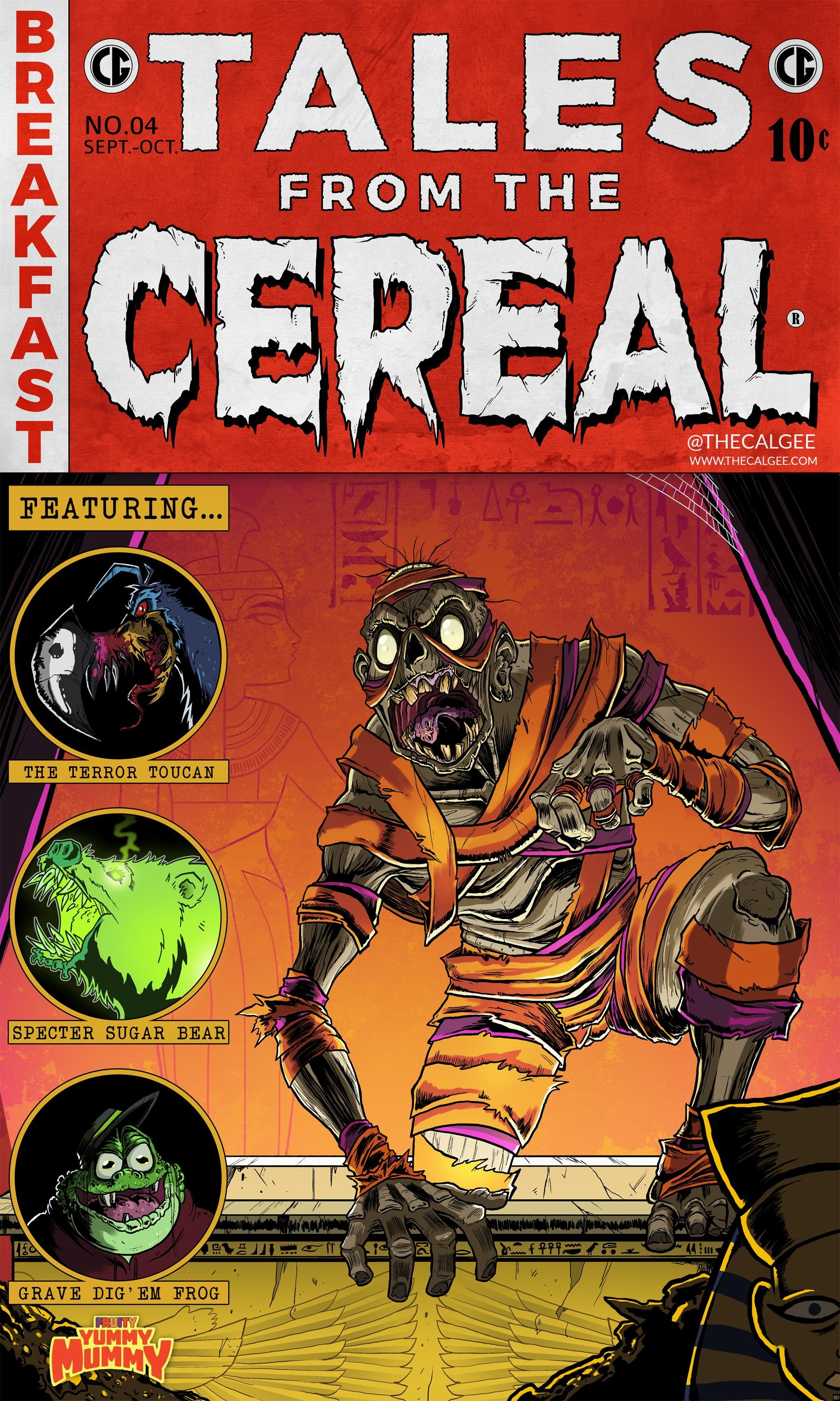 Book Cover Art Styles : Artist turns cereal monsters into tales from the crypt