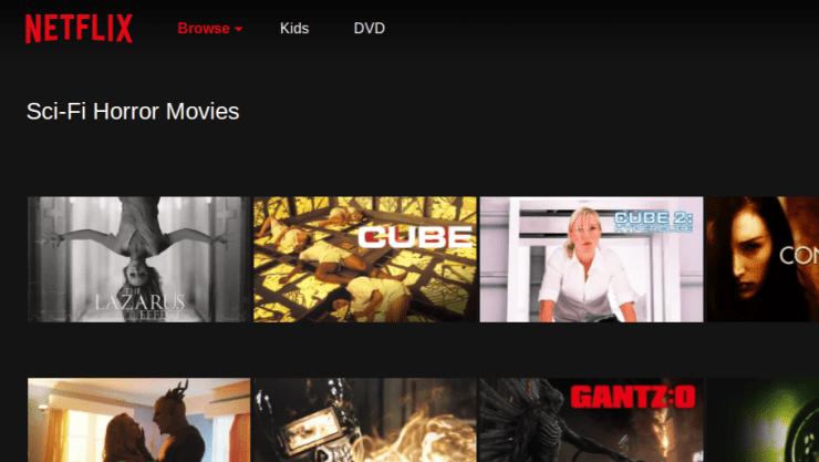 Netflix Sub Category