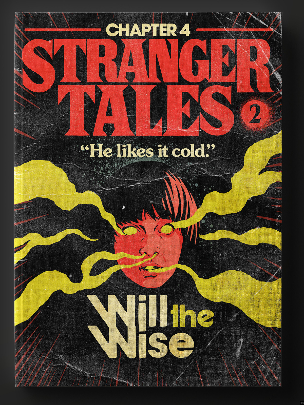 artist makes retro book covers for stranger things season 2 episodes bloody disgusting. Black Bedroom Furniture Sets. Home Design Ideas