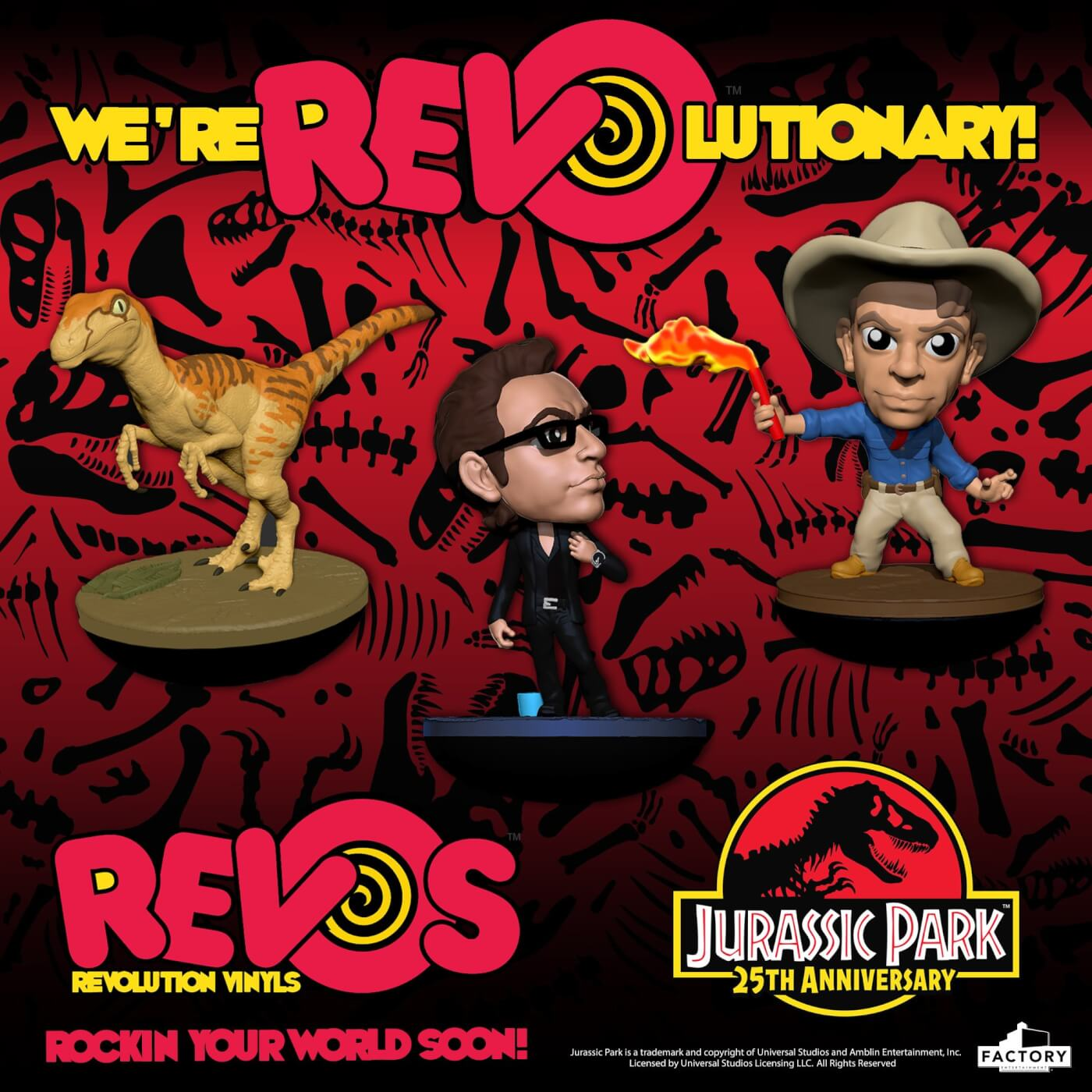 Factory Entertainment Jurassic Park Revos Ian Malcom Inc
