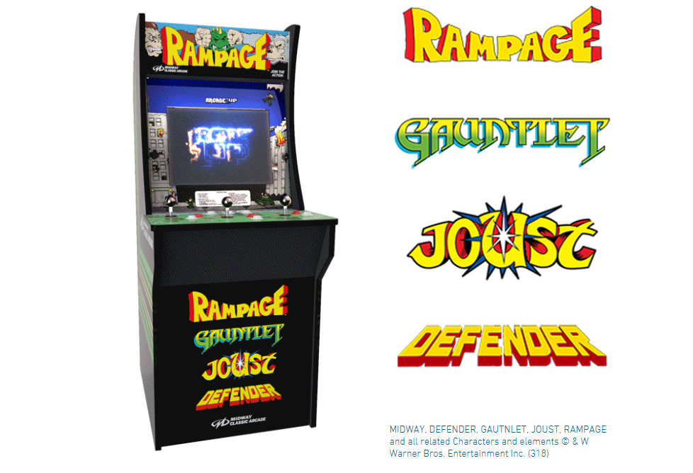 Fine You Can Now Buy A Retro Authentic Rampage Arcade Cabinet Download Free Architecture Designs Remcamadebymaigaardcom
