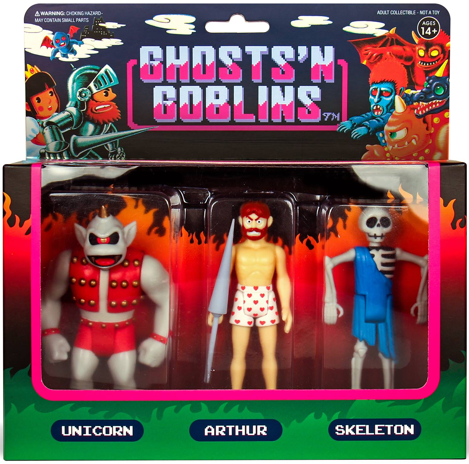 "Ghosts /'N GOBLINS réaction 3.75/"" ACTION FIGURE Super 7"