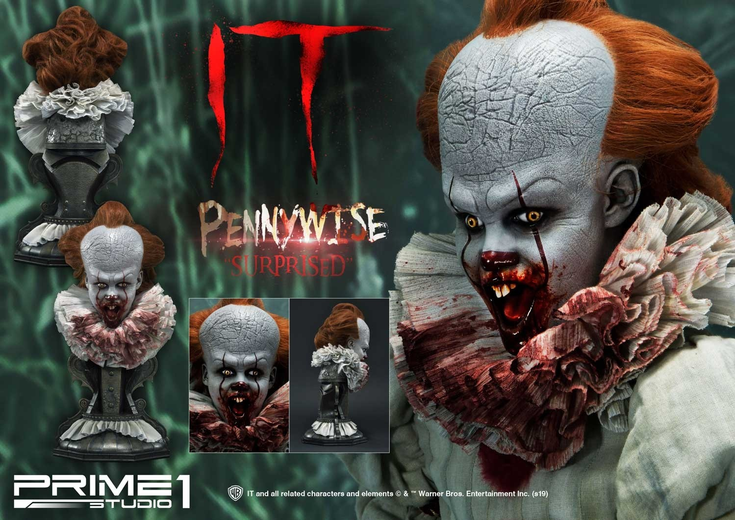 The Three Terrifying Faces of Pennywise: Prime 1 Studio