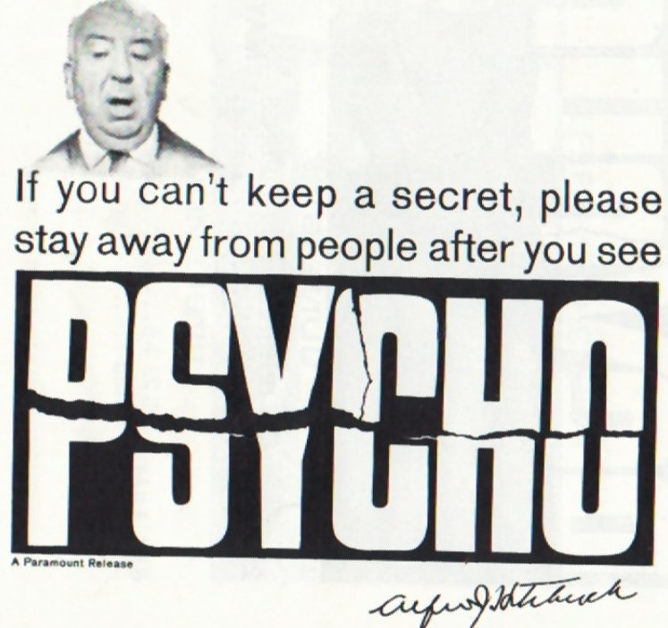 Long Before #DontSpoilTheEndgame, Alfred Hitchcock's 'Psycho