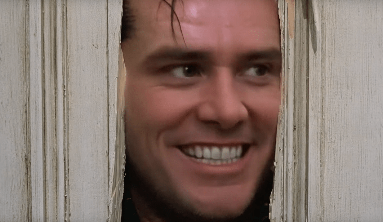 "And Finally, Here's Jim Carrey in the ""Here's Johnny!"" Scene from the Deepfake Version of 'The Shining' - Bloody Disgusting"