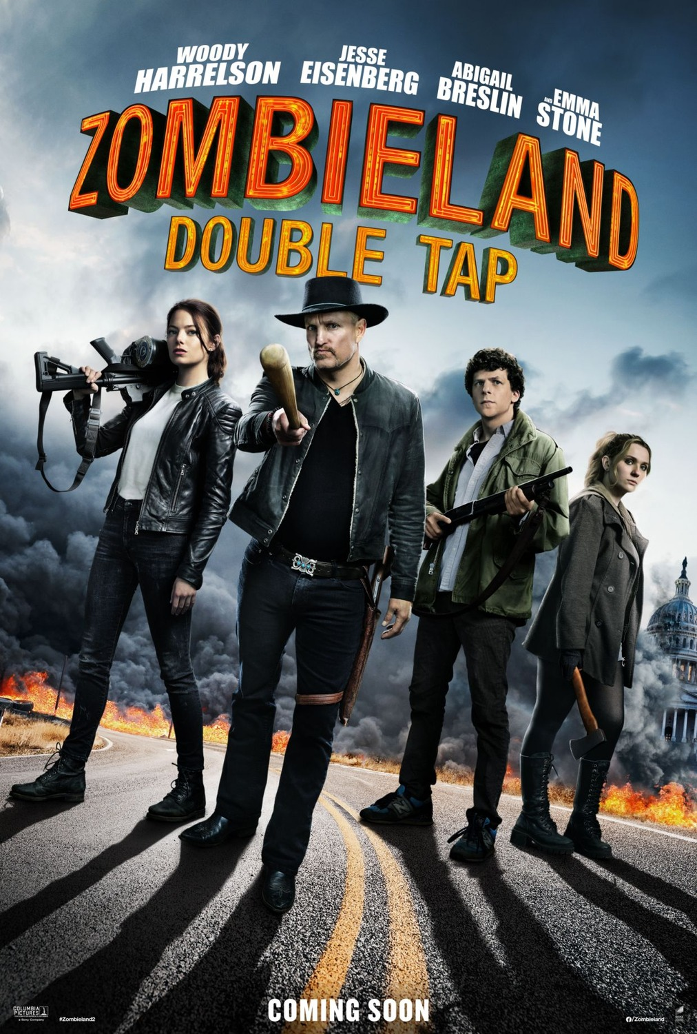 Cast Prepare to Double Tap on New 'Zombieland 2' Poster ...