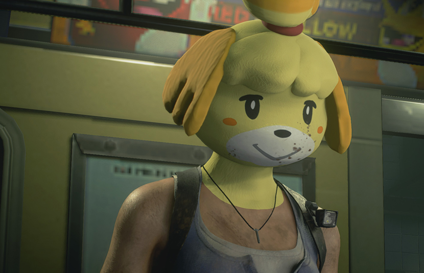 Modder Adds Animal Crossing Isabelle Mask Into Resident Evil 3 Bloody Disgusting