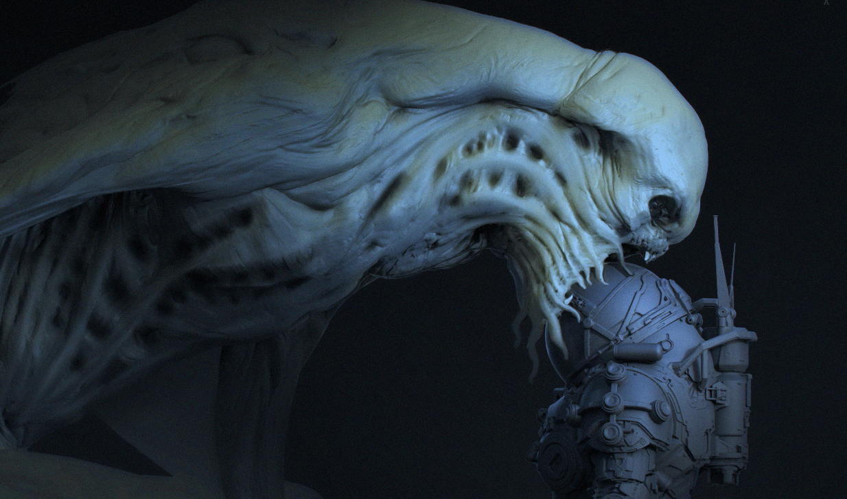 Underwater Director Shares Creature Concept Art And Talks About How He Got That Monster In The Movie Exclusive Bloody Disgusting
