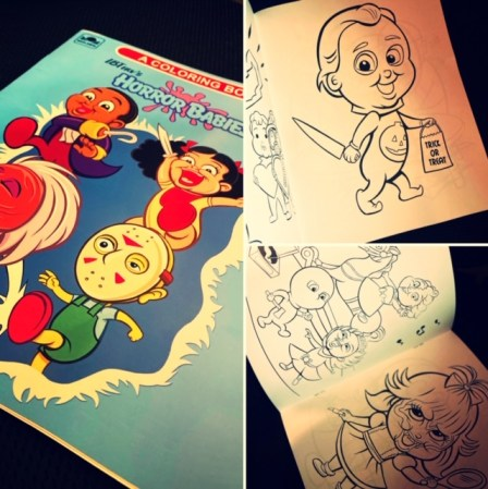 Halloween Giveaway - IBTrav Horror Babies Coloring Book
