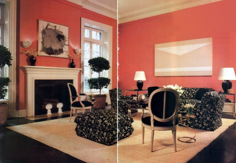Living room, Arthur Smith, Architectural Digest, October 1983.