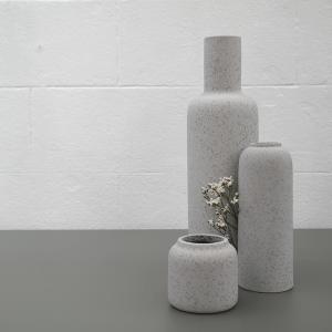 Coloris de 3 vases Bloom en pierre de lave