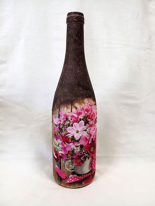Bottle art decoupage on bottle how to decorate bottle in