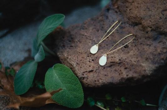 Raw brass teardrops