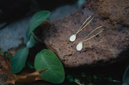 Raw brass teardrops
