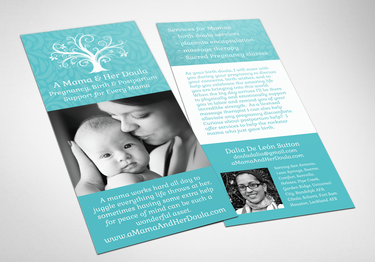 A Mama & Her Doula Rack Cards Bloom Birth Professionals