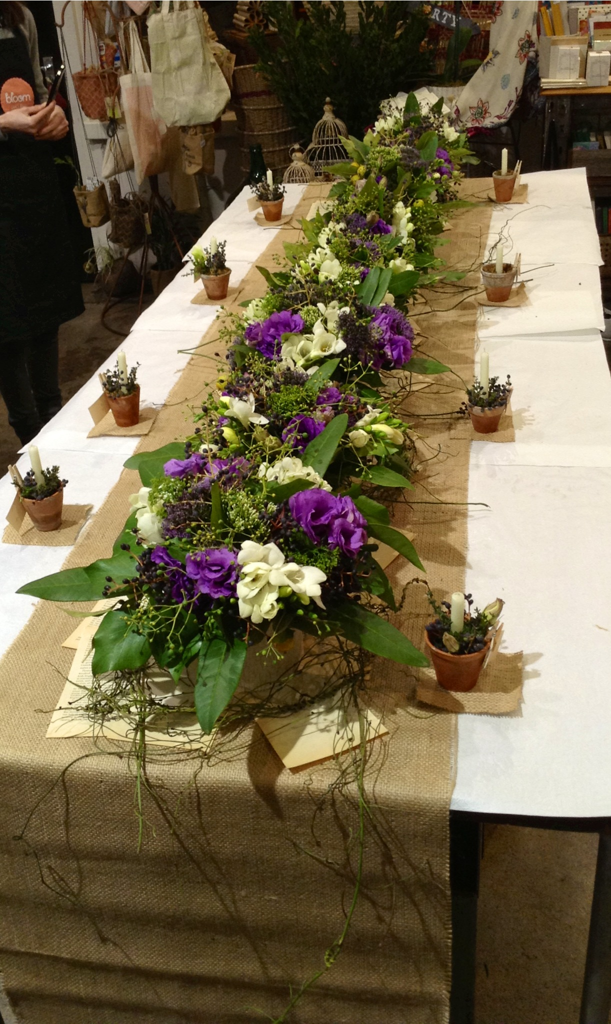 Bouquets and table centre pieces filled our Geelong