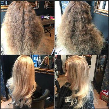 Stylist: Samantha - Blonde balayage on tamed locks