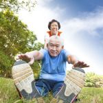 15973132 - happy asian senior couple