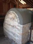 Detail shot of the backside of the soda kiln
