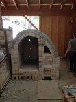 Kiln complete before framing or addition of burners.