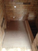 interior of kiln without bag wall or stilts