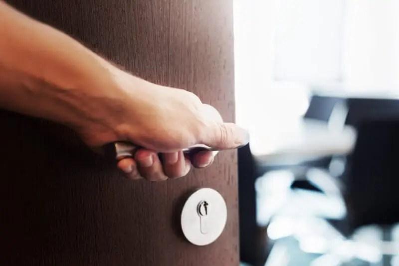 open door representing marketing portal