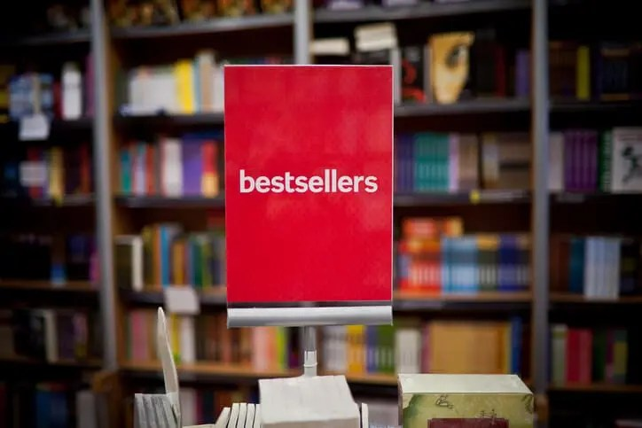 bestsellers sign representing sales content