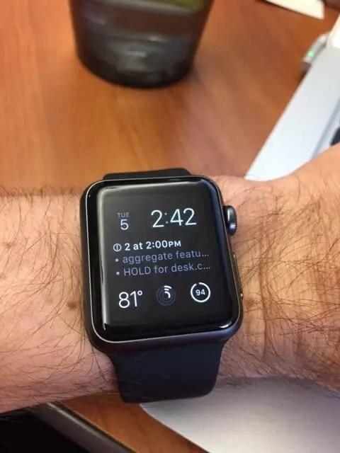Chad's Apple Watch
