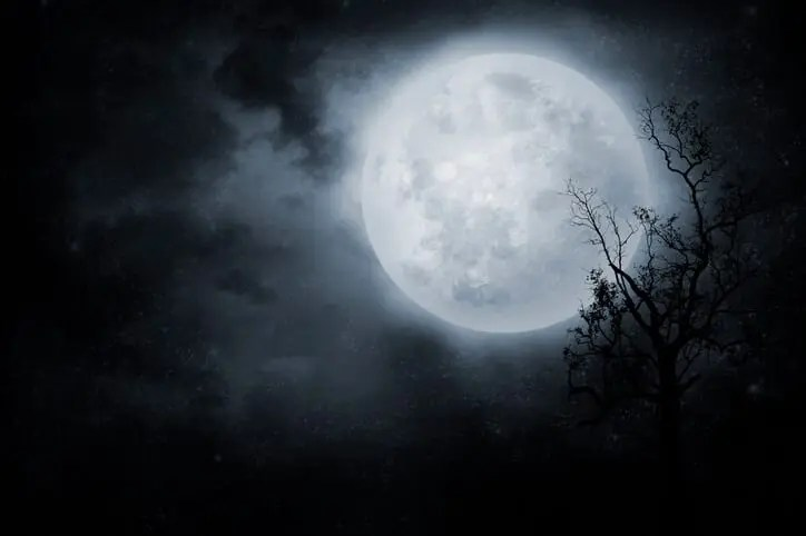 full moon representing revival of content curation