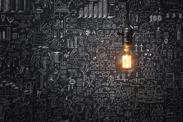 light bulb representing knowledge management solution