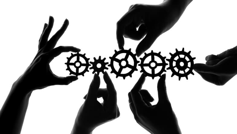 Like gears in a machine strong communication aligns teams