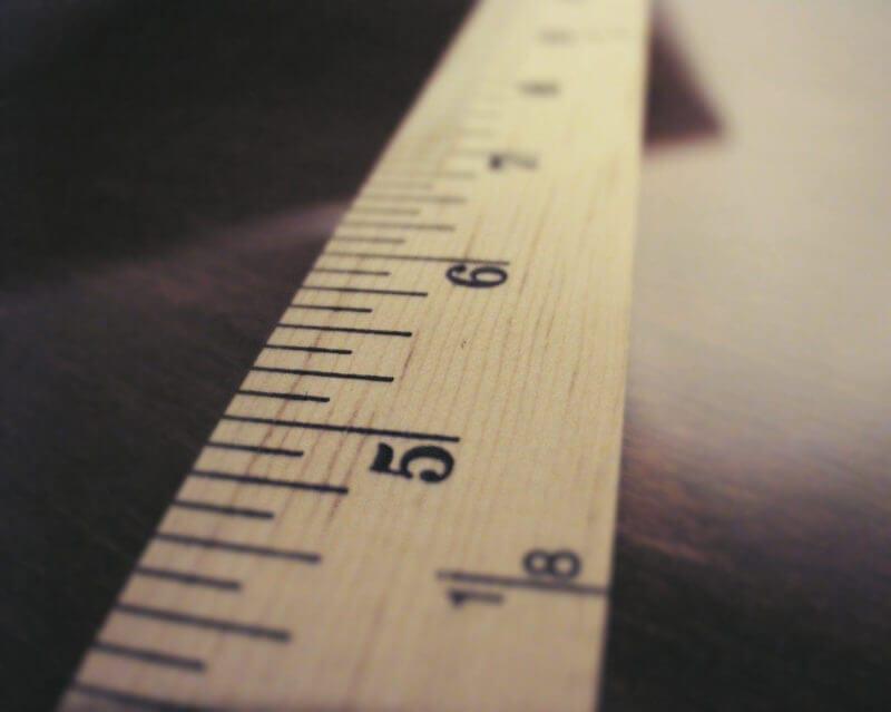 ruler representing knowledge sharing metrics