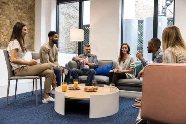 DIY market research focus group at startup office