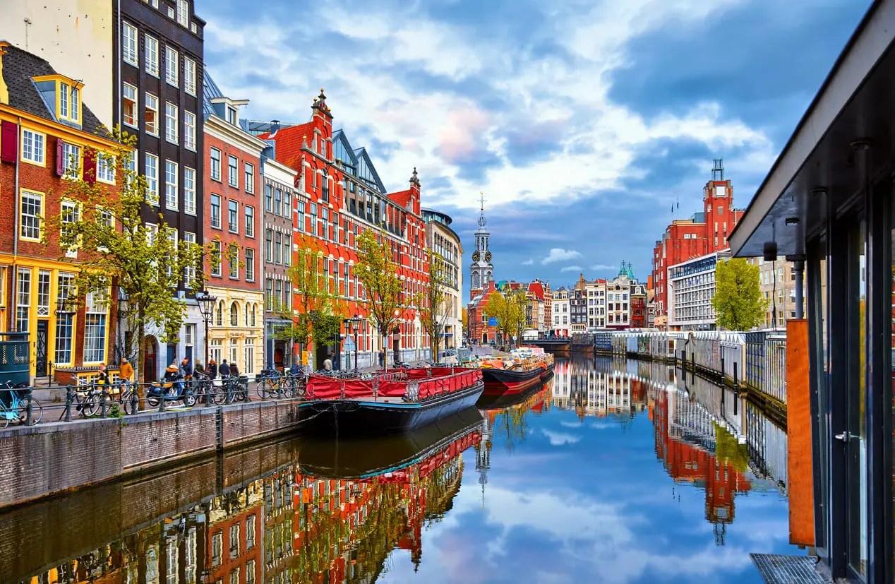 view of Amsterdam, location of IIeX Europe 2020
