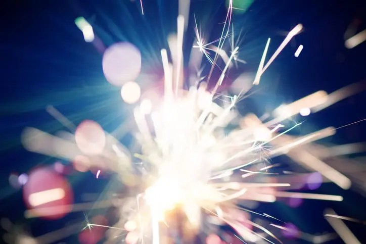 abstract sparkler representing Bloomfire Spark
