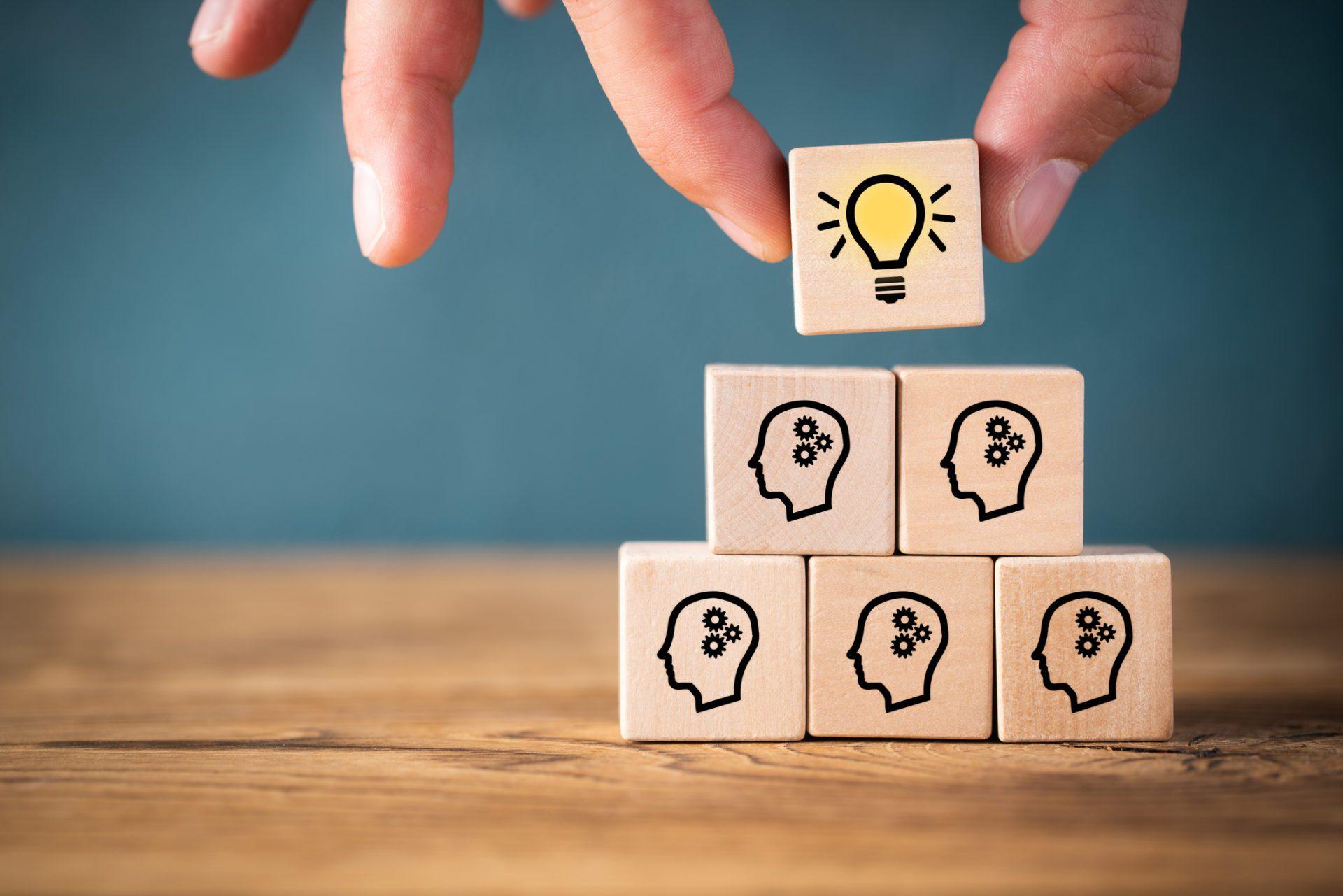 idea building blocks representing collaborative KM segment in Forrester Research report