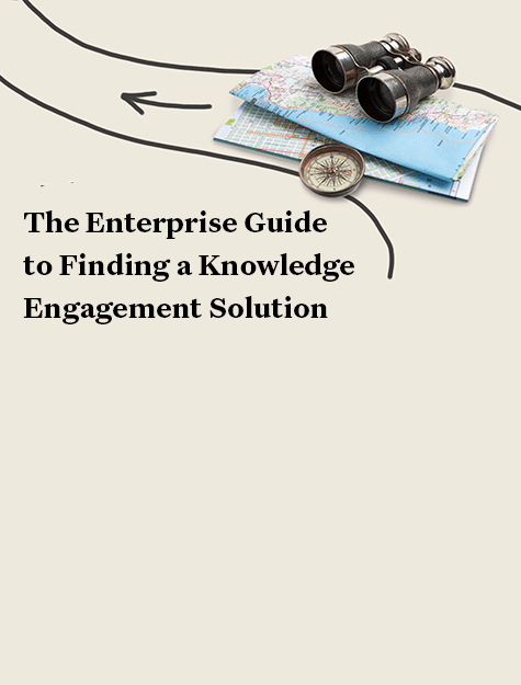 enterprise guide to finding a knowledge engagement solution booklet