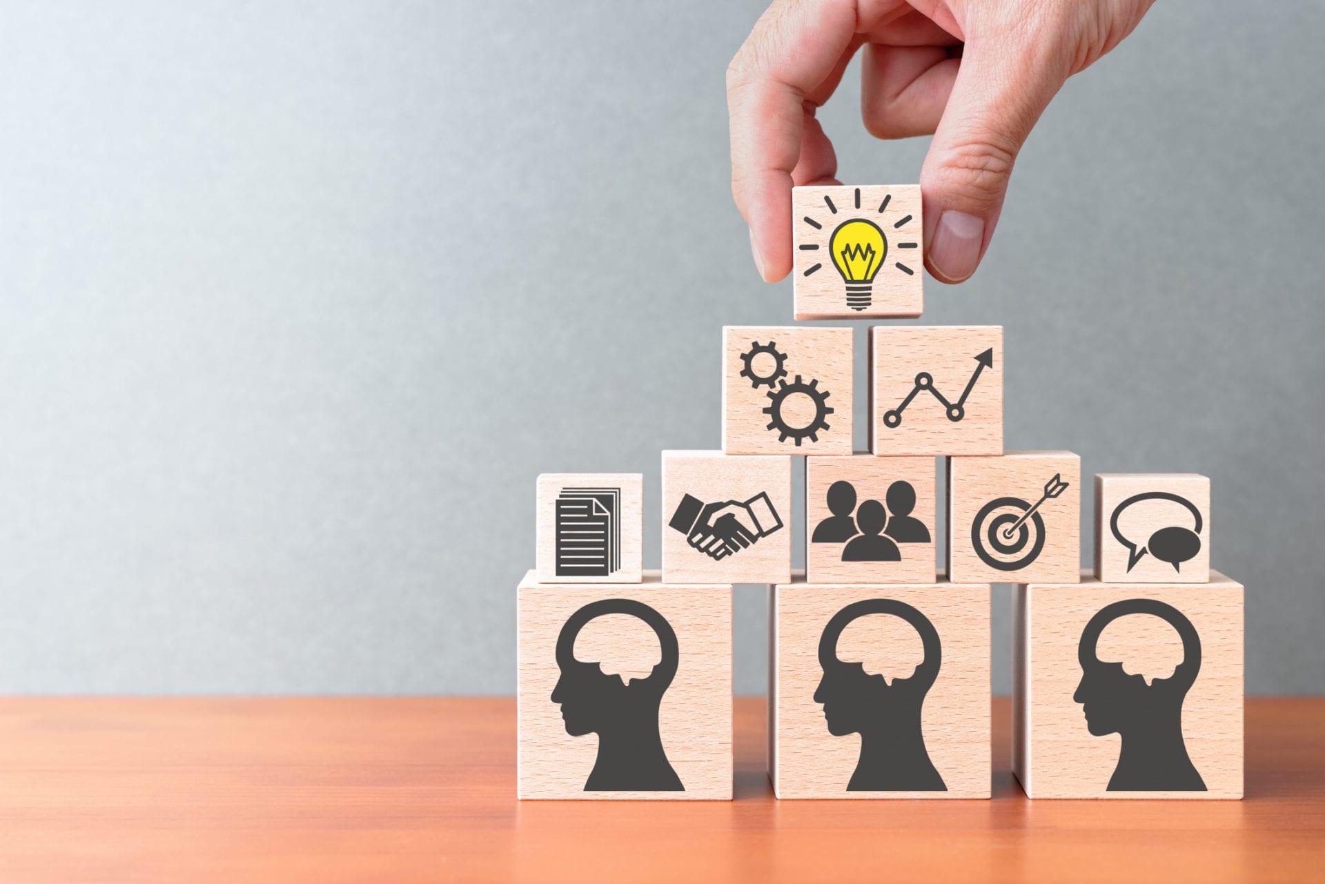 building blocks representing knowledge management framework